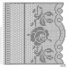 Crochet Border Patterns, Crochet Collar Pattern, Crochet Table Runner Pattern, Crochet Tablecloth, Crochet Doilies, Embroidery Patterns, Filet Crochet Charts, Crochet Diagram, Russian Crochet