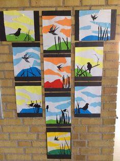 cute bird art projec