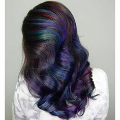 Like this with purples brighter colors underneath