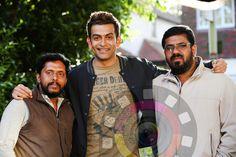 Prithviraj with the Director Anil C Menon and Cinematographer Jithu Damodar