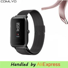 Milanese Loop Magnetic Stainless Steel Watch Band for Xiaomi Huami Amazfit Youth bit Smart Watchband Strap Wrist Bracelet Stainless Steel Watch, Mobiles, Watch Bands, Headset, Computers, Bluetooth, Headphones, Youth, Xmas