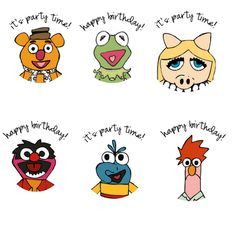 Muppets Party:  printable cupcake toppers (maybe print on labels to make stickers for invitations and/or goodie bags)