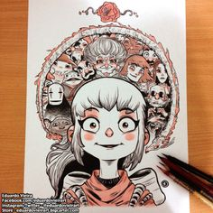 A Spirited Away illustration for this week's Throwback Thursday!...