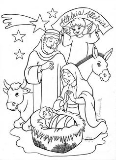 Dailycoloringpages Images Nativity Scene Bible Coloring