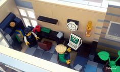 Happy Hour Avenue :: My LEGO creations. This scene is inspired by, and based on the Old Market Street in my favorite city: Goes (Zeeland) in The Netherlands. Lego Office, Lego Creations, Happy Hour, Old Things, Van, Vans, Vans Outfit