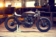 Is brown the new black? This highly-caffeinated cafe racer built for a coffee company sure looks good. It's a creative mix of CB250, CB360 and CB400 parts.