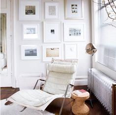 Vintage stol hvid