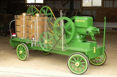 John Deere hit and miss engines with 20 quart ice cream freezers built by Scenicview Freezers