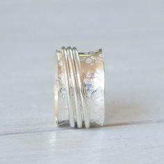 Angst-Ring Spinner Ring Damen Ring fidget Ring von SILVERstro