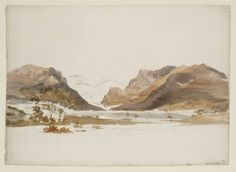 Joseph Mallord William Turner (1775‑1851) Title Llyn Nantlle with Snowdon Beyond Date 1799 Medium Gouache, graphite and watercolour on paper...