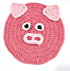 #306 Pink Piggy Crochet Dishcloth – Maggie Weldon Maggies Crochet