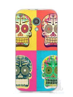 Capa Moto G2 Caveiras Coloridas - SmartCases - Acessórios para celulares e tablets :)