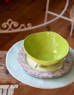 RICE Italian soup bowl - lime green