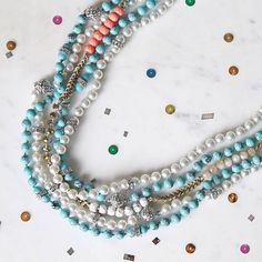 Happy Fat Tuesday, #candifriends! How are you celebrating #MardiGras?  #necklaces #spring2015  XO! www.chloeandisabel.com/boutique/lisahaas