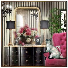 A home decor collage from May 2015 featuring Couture Lamps, white home decor and antique gold picture frames. Decor, Furniture, Interior Decorating, Interior, White Home Decor, Gold Picture Frames, Home Decor, White Houses, Interior Design