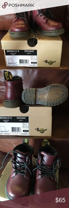 Youth Dr Martens - Burgundy - 6 toddler Never worn! I bought these for my daughter but they were already too tight, so decided to sell them for someone who can wear them longer. Let me know if you have questions! I have the receipt as well! Dr. Martens Shoes Boots