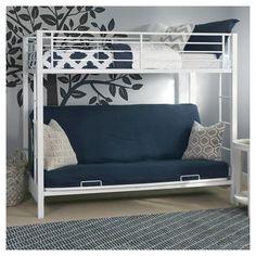 Kids Twin over Futon Bunk Bed Metal - Walker Edison : Target
