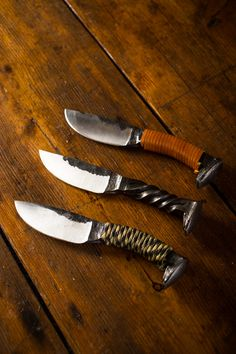 Wrapped Railroad Spike Knives - gift for Zack?