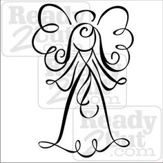 An angel for Christmas or any time, swirly and pretty. ♥ When you purchase this item, you will receive a zipped folder that contains 4 different file formats of this design. AI, EPS, SVG and a JPG …