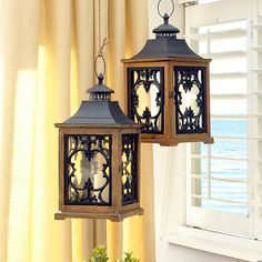 These Scroll Lanterns make an elegant statement