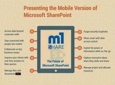 m1 Share provides mobility solution for SharePoint. Its provide secure and real-time access to SharePoint outside corporate walls, enabling users to view, share and manage files and content stored in their SharePoint.