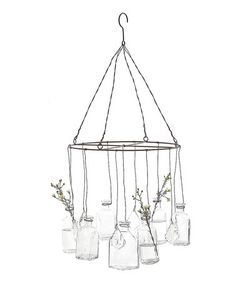 Wire Hanging Glass-Vase #zulily #zulilyfinds