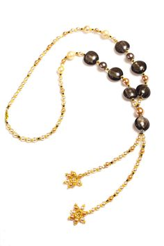Mallorca Pearls Hematite and Murano Glass Necklace