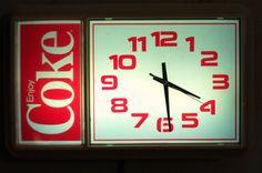 This is pretty cool. Retro Coca Cola Clock.
