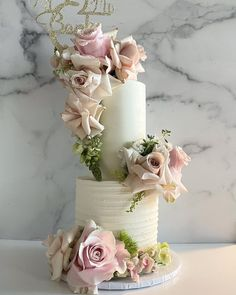 2 Tier Wedding Cakes, Pretty Wedding Cakes, 2 Tier Cake, Tiered Cakes, Shabby Chic Cakes, Elegant Cakes, Cute Cakes, Cupcake Cakes, Projects To Try