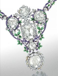 A Set of Belle Époque Diamond and Enamel Jewelry, by Paulding Farnham, Tiffany & Co.
