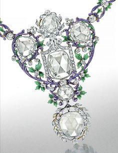 A Set of Belle Époque Diamond and Enamel Jewelry, by Paulding Farnham, Tiffany & Co.