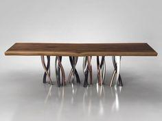 Table en bois massif Collection IL PEZZO 8 by Il Pezzo Mancante | design Barbara Bertocci, Cosimo Terzani