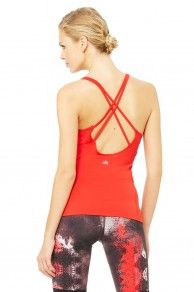 Alo Yoga - Lotus Bra Tank - Ruby-Red-3