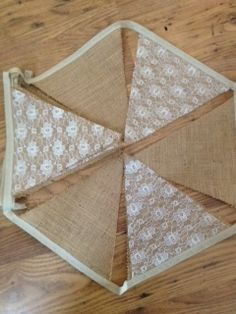Rustic Hessian & Lace Bunting