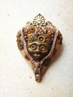 Steampunk polymer clay   Art from my Heart