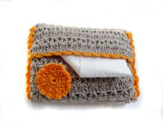 Crocheted Pocket Size Tissue Cover  Free by HunnybeeCrafts on Etsy
