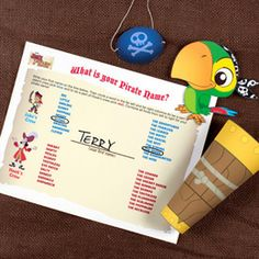 Jake and the Never Land Pirates Activity Book includes spyglass and Skully printable as well as eye patches