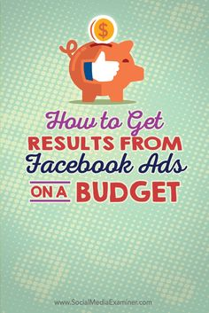 Do you want to get results without spending a lot of money? In this article you'll learn how to set up your Facebook ads to generate big results on a small budget.