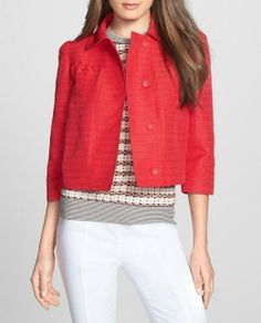 Love! This red jacket is perfect for a preppy girl.