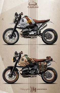 "Racing Cafè: Cafè Racer Concepts - Bmw R1100 GS ""Caiman Urban & Dirt"" by Holographic Hammer"