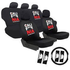 Oxgord California 60/40 Split Bench 17-piece Seat Cover Set (California Seat Covers)