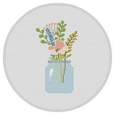 Flowers PDF Cross Stitch Pattern Flower Arrangement by Xrestyk
