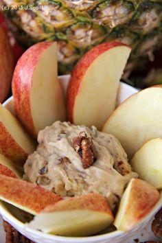 Toffee Bit Fruit Dip | Bakerette.com