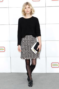 Clémence Poésy, Chanel Fall 2014 Ready-to-Wear - Front-row - Gallery - Style.com