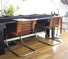 Cantilever Chair MR 20 by Ludwig Mies van der Rohe