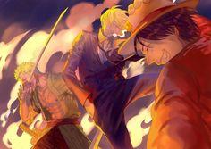 Luffy, Zoro and Sanji