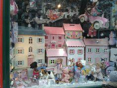 Le Bonhomme de Bois - toy store window, Le Toy Van dollhouses