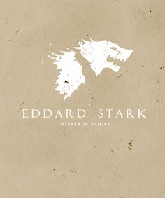 | ASOIAF :Minimalist Character Posters | Ned Stark