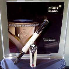 Montblanc Black and White event in New York City featured an homage to Princess Grace de Monaco.  This pen will be issued in July 2014.