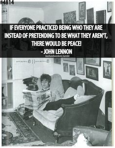 Lennon on peace Beatles Lyrics, Les Beatles, Words Quotes, Wise Words, Sayings, Famous Quotes, Best Quotes, John Lennon Quotes, Favorite Quotes